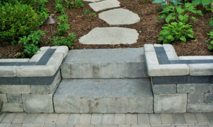 Hardscape Steps and Seatwall in Delavan Lake, WI