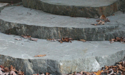 Gneiss Stone Slab Steps in Delavan Lake, WI