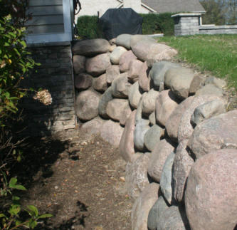 Boulder Wall Repair in Lake Geneva WI