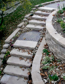 Rosetta Steps with paver landings